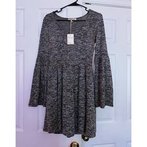 NWT Living Doll Fit-and-Flare Bell Sleeve Dress
